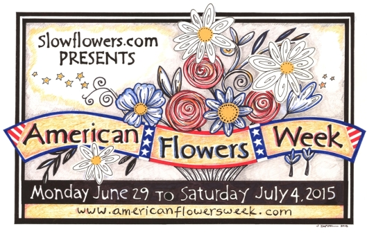 The 2015 American Flowers Week Logo