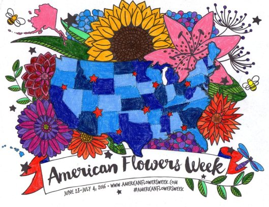 Here's a fabulous way to engage your customers and clients in #americanflowersweek