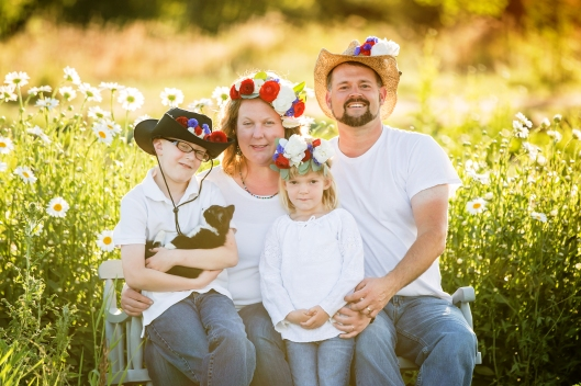 The Pabody family of Triple Wren Farms shows their support for American Flowers Week.