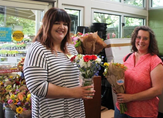 Katie McConahay (floral buyer) and Bethany Little of Charles Little & Co.