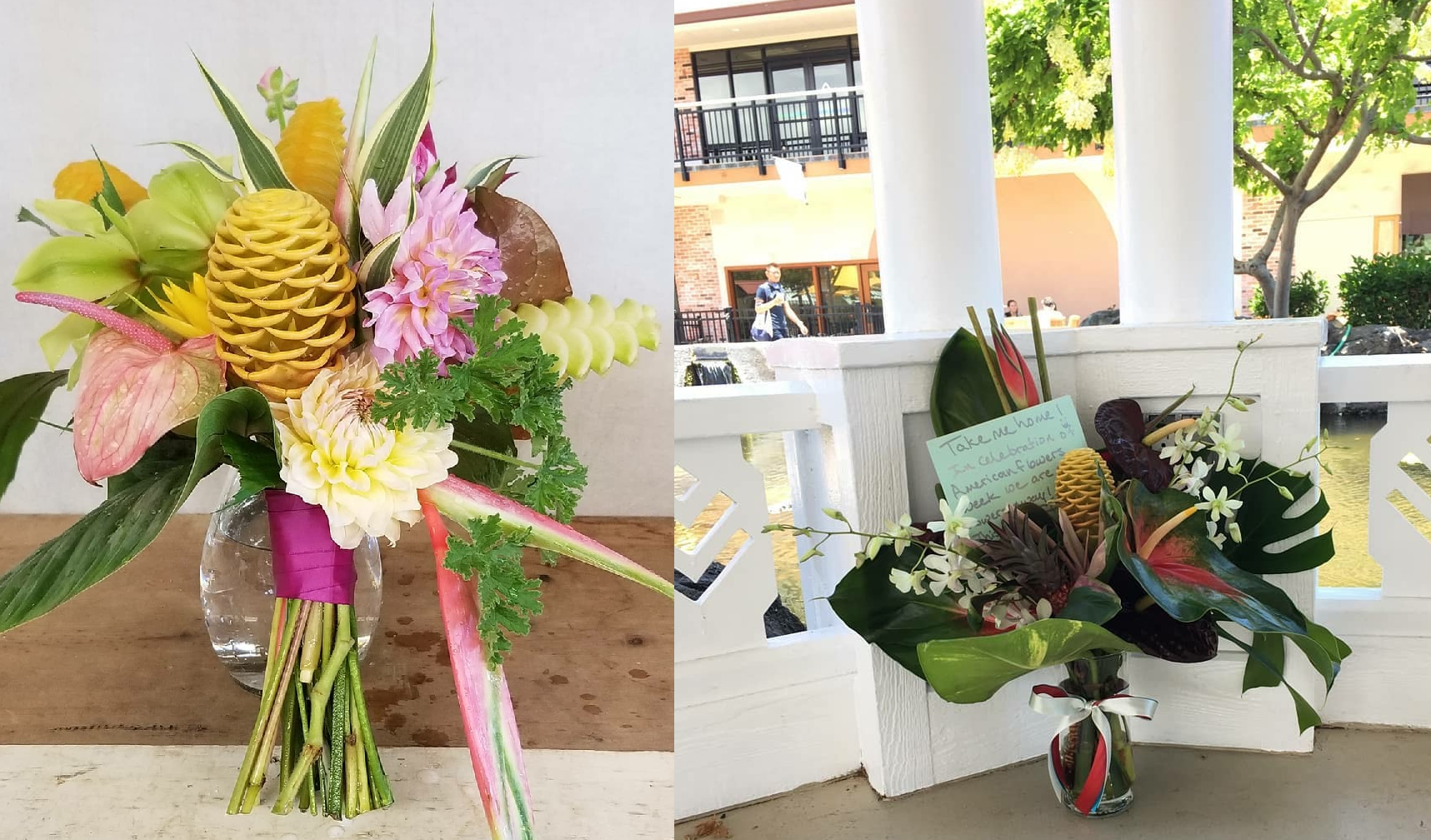 Resources for farmers florists american flowers week these free bouquet of the day arrangements featured locally grown tropical flowers and evoked a cheery summertime feel izmirmasajfo